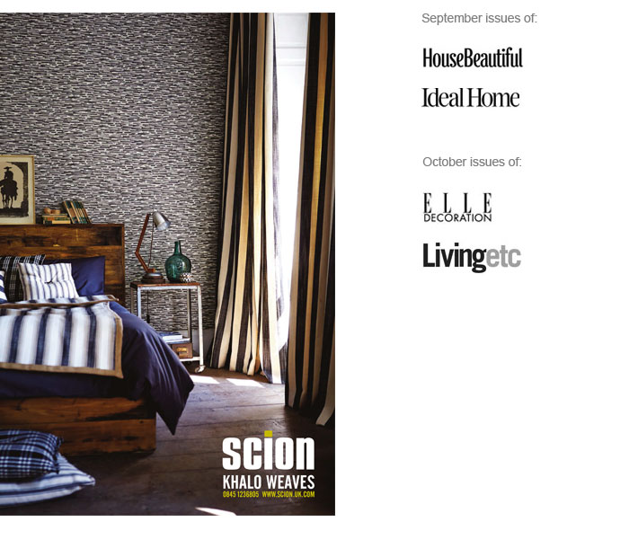 scion khalo weaves stoffen advertentie luxury by nature